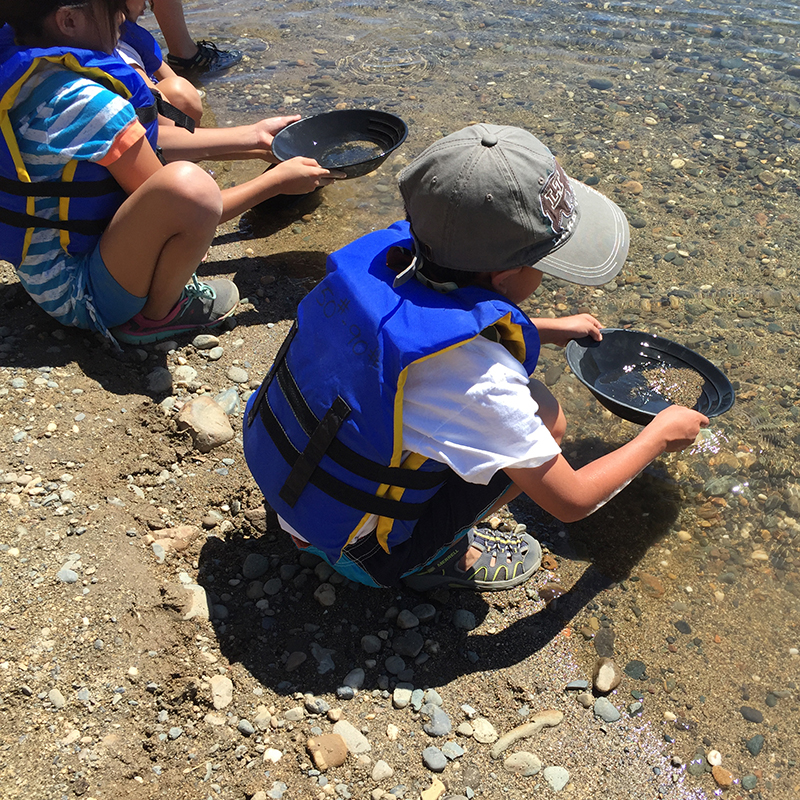 Panning for Gold during Summer Camp