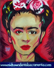 Frida chalk art
