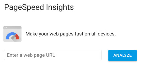 Google's PageSpeed Insights Testing Tool