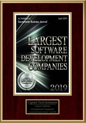 Image of largest software development companies 2019 plaque