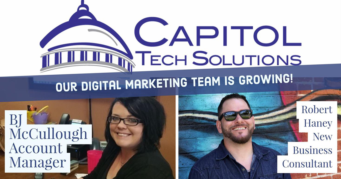 New Hires for the Capitol Tech Solutions Digital Marketing Team in Sacramento California.