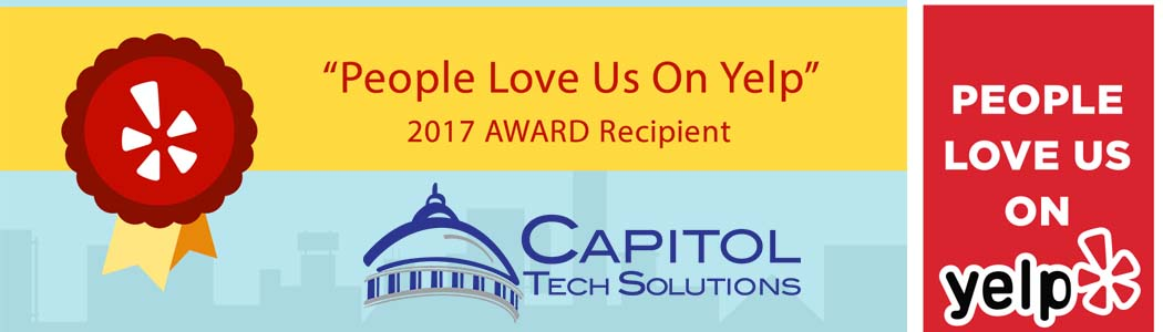 2017 People Love Us on Yelp Award badge for Capitol Tech Solutions
