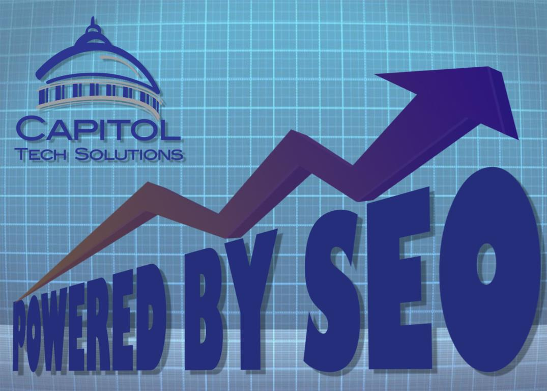 A title graphic for Capitol Tech Solutions' SEO Strategy review of PowerSchool's Case Study