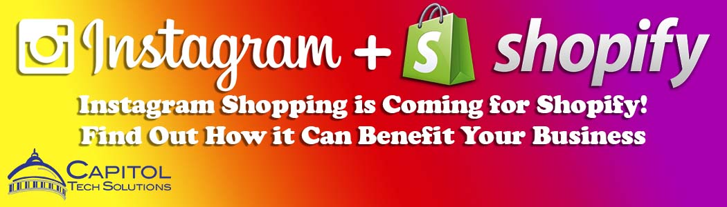 This is the title image for a blog post that explains what Instagram Shopping is, its benefits, and how to prepare Shopify online stores.
