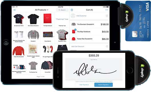 This is a screenshot of the Shopify Mobile POS App used to describe the features and benefits for your online store