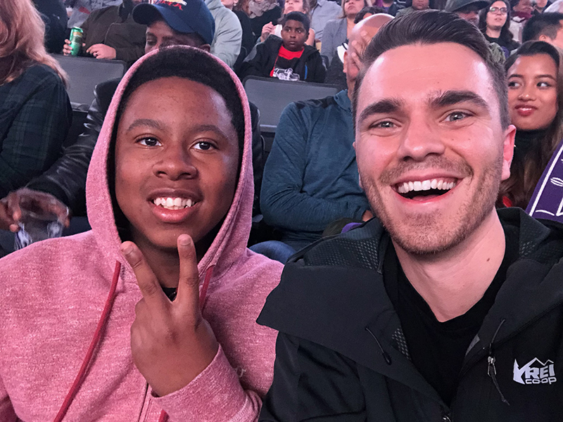 A picture of Steven & Josh enjoy a Kings Game