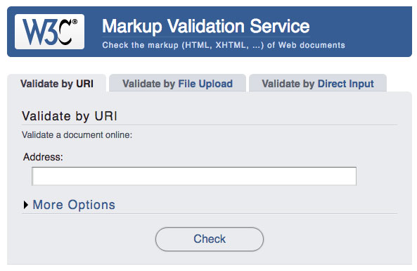 W3C Markup Validation Tool