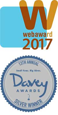 2017 WebAward Badge & Davey Award Badge for Web Design