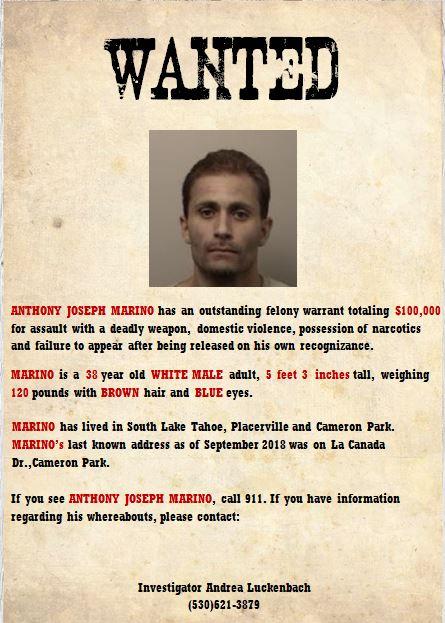 Most Wanted Captured | El Dorado County District Attorney (DA
